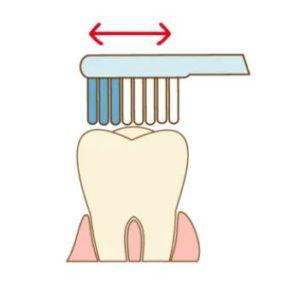 奥歯のかみ合わせの磨き方