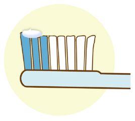 フッ素配合歯磨剤の使用目安