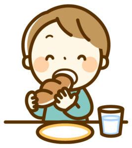 食べ物を食べる
