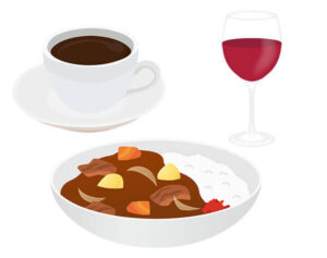 色素の強い飲食物